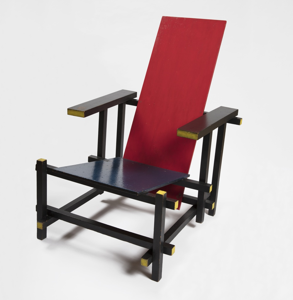 Chair, Red Blue Chair