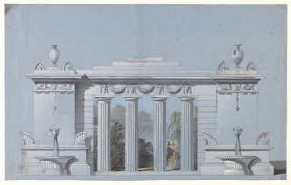 Drawing, Design for a Park Colonnade