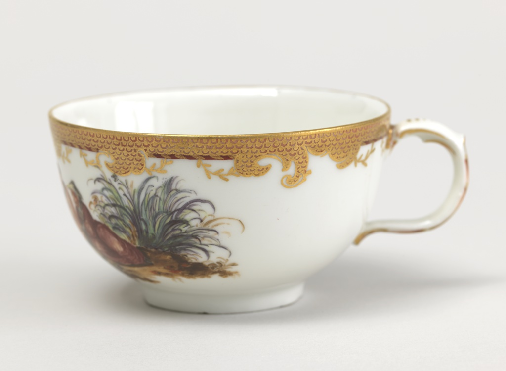 Cup and Saucer with Chinoiserie Vignettes Cup And Saucer, ca. 1770