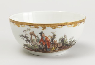 Slop Bowl with Chinoiserie Vignettes Bowl, ca. 1770