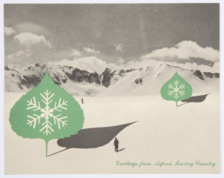 Greeting Card, Greetings from Aspen's Touring Country, Merry Christmas and Happy Near Year from Herbert and Joella Bayer