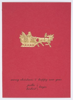 Greeting Card, Merry Christmas & Happy New Year, Joella and Herbert Bayer