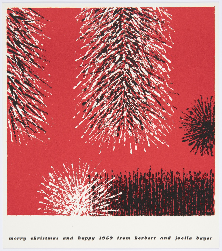 Greeting Card, Merry Christmas and Happy 1959 from Herbert and Joella Bayer