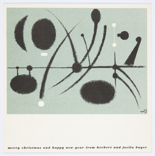Greeting Card, Merry Christmas and Happy New Year from Herbert and Joella Bayer
