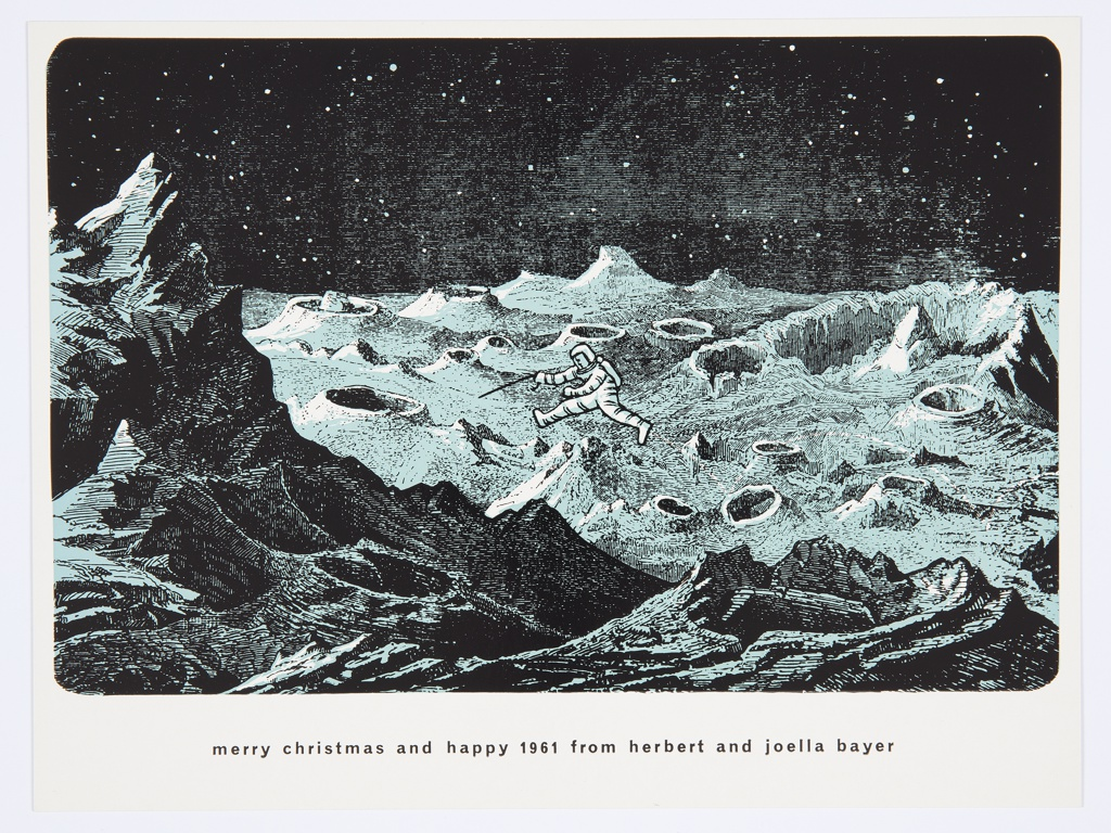 Greeting Card, Merry Christmas and a Happy 1961 from Herbert and Joella Bayer