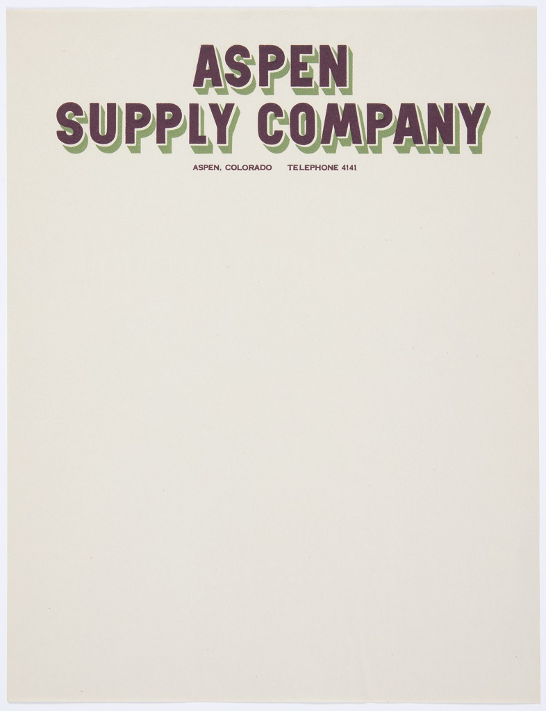 Stationery, Aspen Supply Company