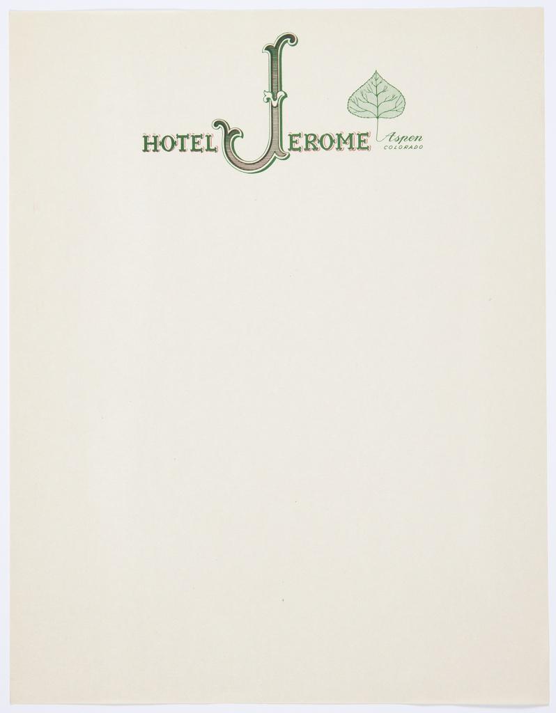 Stationery, Hotel Jerome