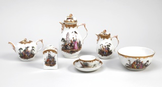 Tea And Coffee Service, Tea and Coffee Service with Chinoiserie Vignettes