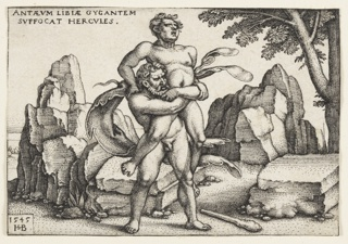 Print, Hercules and Antaeus, 1542–48