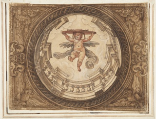 Drawing, Ceiling Design with Borghese Arms