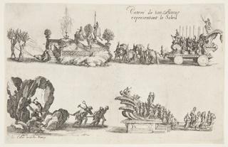 Print, Entrée de Son Altesse Representant le Soleil, 1627