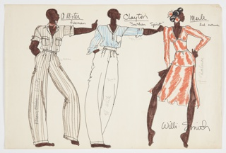 Costume Design Drawing, ca. 1975