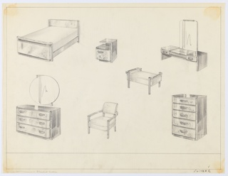 Drawing, Bedroom, Suite, ca. 1932