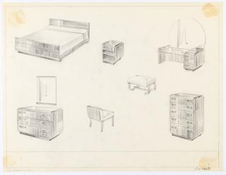 Drawing, Bedroom, Suite, ca. 1932