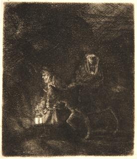 Print, The Flight Into Egypt: A Night Piece, 1651