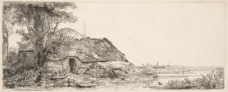 Print, Landscape with a Cottage and a Large Tree, 1641