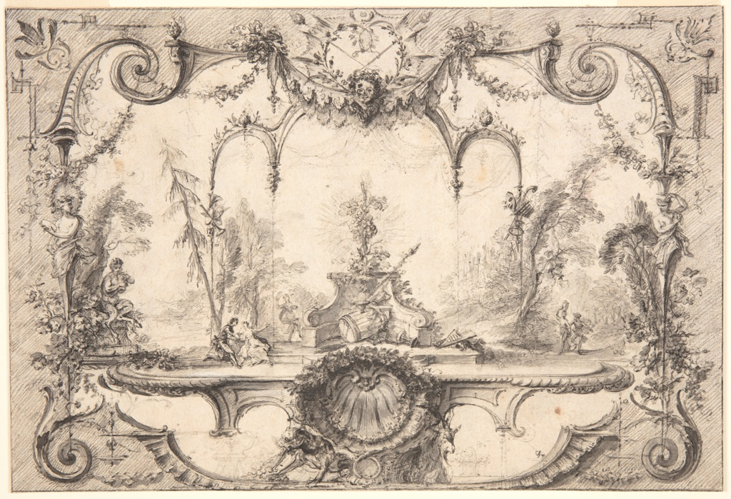Drawing, Gardens of Bacchus