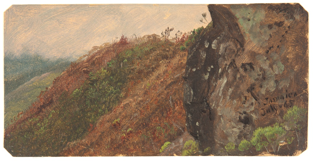 Drawing, Study of Mountainous Landscape and Rock, Jamaica, July 1865