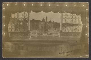 Postcard, Theatrical backdrop