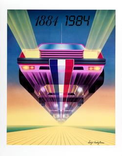 Poster, L'Automobile et la Publicité [Automobile in Advertising]1884-1984