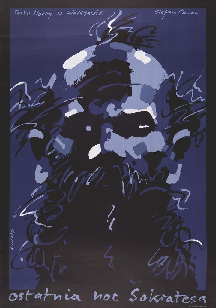 Poster, Ostatnia noc Sokratesa [Last Night of Socretes], Teatr Nowy w Warszawie