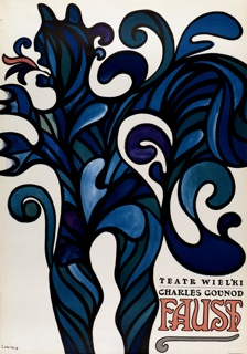 Poster, Teatr Wielki, Charles Gounod Foust [Charles Gounod's Faust]