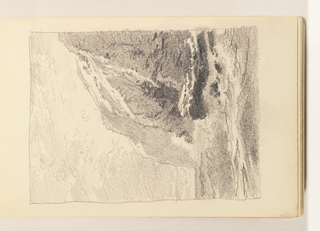Sketchbook Folio, Study of Calm Ocean with Tall Cliffs