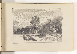Sketchbook Folio, Countryside with Trees and Rocks
