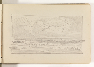Sketchbook Folio, Light Sketch of Waves on Beach