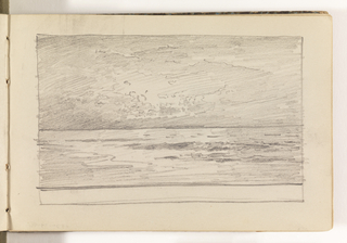 Sketchbook Folio, Study of Calm Ocean with Dramatic Light