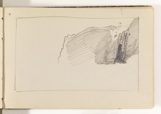 Sketchbook Folio, Unfinished Cliff Study