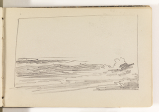 Rough study of ocean with waves breaking at right.
