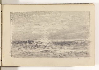 Sketchbook Folio, Sketch of Choppy Ocean