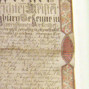 Calligraphy, Certificate of Membership in the Book-binder's Guild