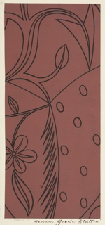 Drawing, Textile Design: Große Blätter (Large Leaves)