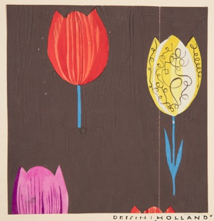 Drawing, Textile Design: Holland