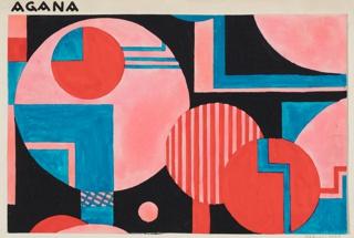 Drawing, Textile Design: Agana, 1928