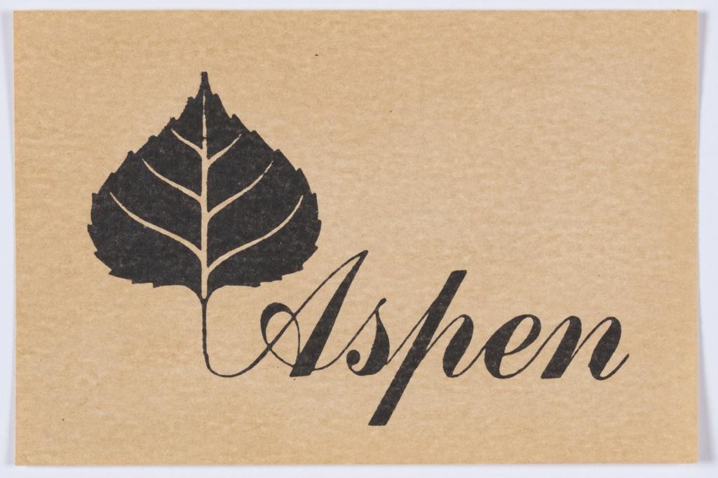 Print, Design for Logo, Aspen, Colorado