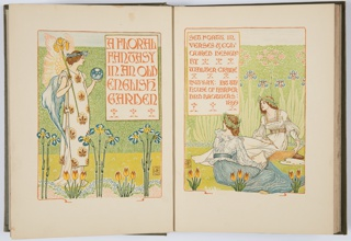 A Floral Fantasy In An Old English Garden: Set Forth In Verses & Coloured Design, Book, 1899