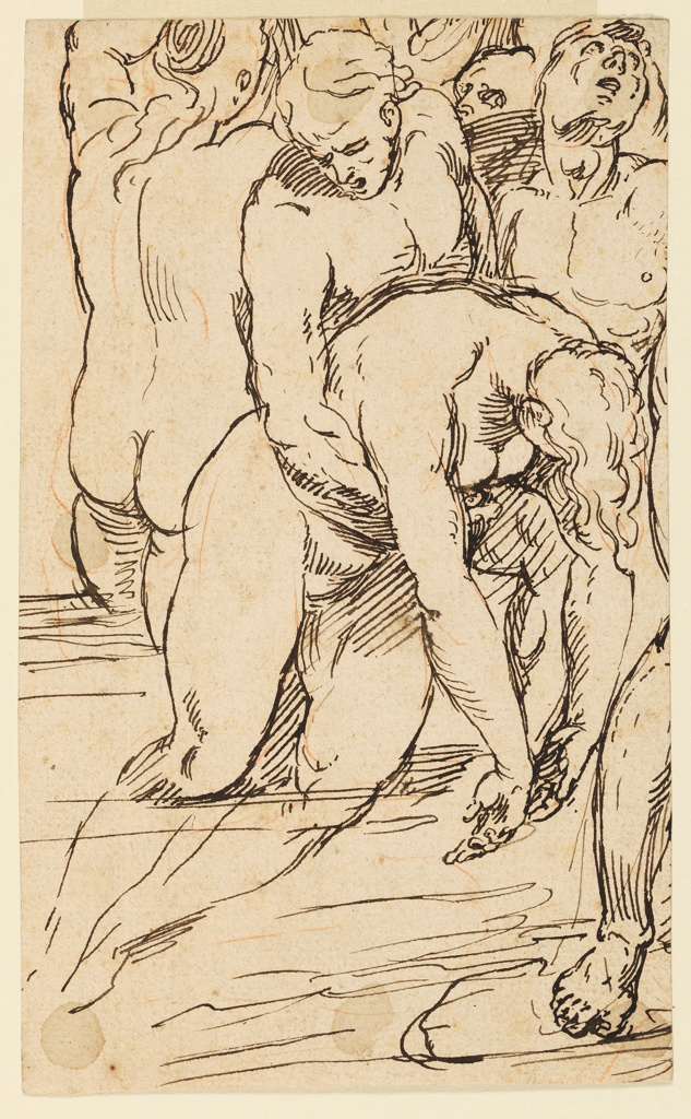 Drawing, Study for the Deluge, ca. 1679-80