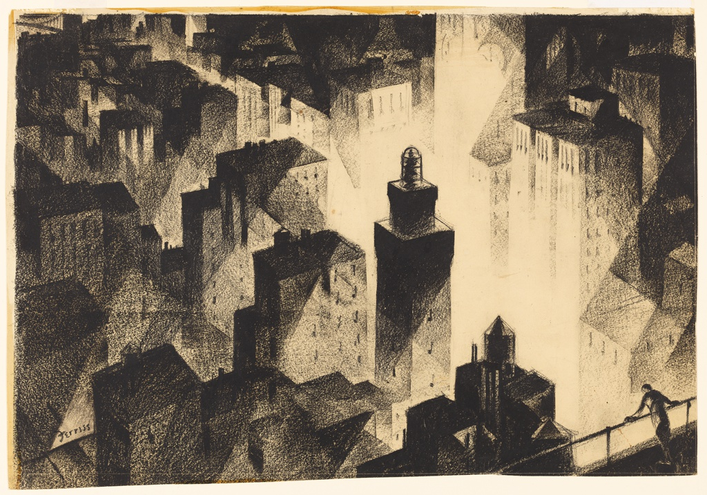 Drawing, The City at Night, Descent into the Streets