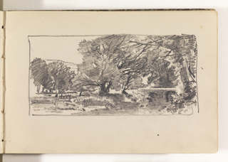 Sketchbook Folio, Countryside with Many Trees