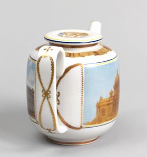 "Hot Water Pot from ""Intourist"" Tea Service (""Leningrad 1935"" Pattern) Hot Water Pot"
