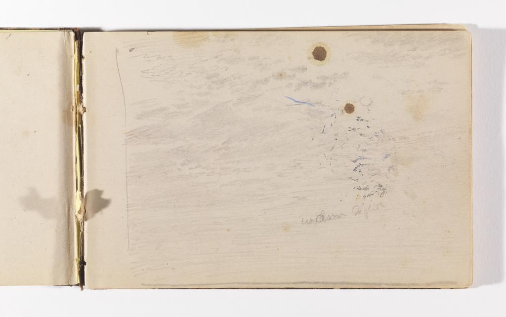 Sketchbook Folio, Light Sketch of Sky