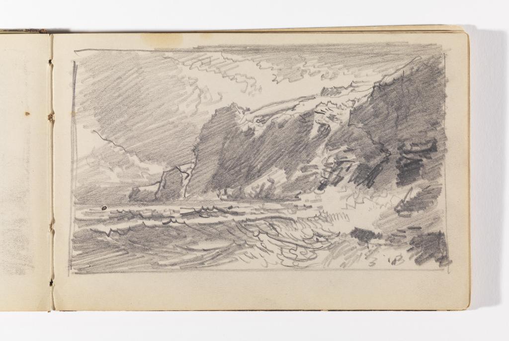 Sketchbook Folio, New England Coast with Cliffs