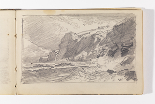 Sketchbook Folio, New England Coast with Cliffs