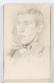 Sketchbook Folio, Sketchbook Page: Portrait of Young Man