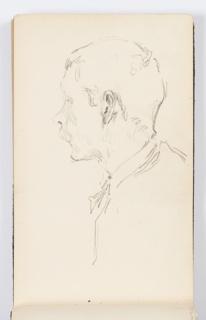 Sketchbook Folio, Sketchbook Page: Man in Profile