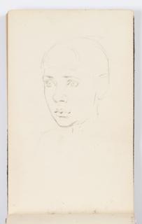 Sketchbook Folio, Sketchbook Page: Portrait