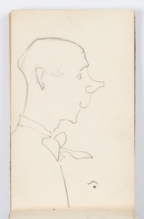 Sketchbook Folio, Sketchbook Page: Caricatures
